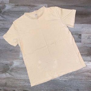 Kith T-Shirt Mens Solid Tan Cotton Plain Crew M